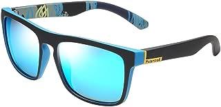 Fashion Men's Driving Shades Male Sun Glasses for Men Retro Luxury UV400 Gafas Polarized Sunglasses Retro (Color : Blue)