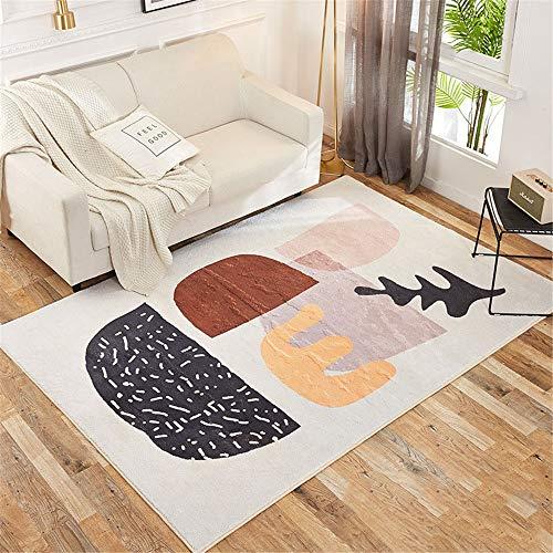 Jklt Elegante Soggiorno Tappeto Salotto Tavolino Moderno Geometrico Semplice Tappeto Soggiorno Grande Soft Touch Multifunzione (Colore: C, Dimensioni: 160x230cm)