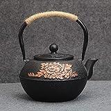YWSZJ Tetera, Tetera de Porcelana con infusor de Acero, con un Filtro for té Suelto, Forma de Calabaza Acanalada