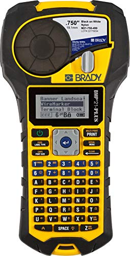 Brady BMP21-PLUS Handheld Label Printer with Rubber Bumpers,...