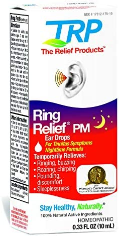 Ring Relief PM Ear Drops for Ringing in The Ears and Tinnitus Symptoms Night time Formula product image