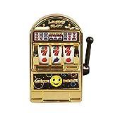 Walmeck- Mini Lucky Spielautomat Metall Anti-Stress-Spielzeug Gold