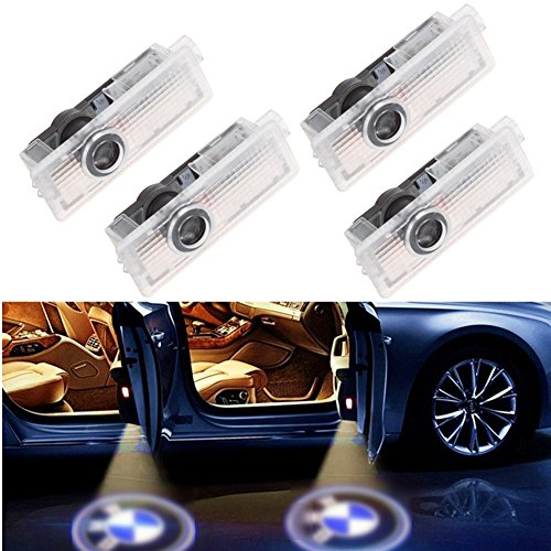 BSVLIA Car Door Logo Light, 4 Pack Auto Door Lights Projector Courtesy Welcome Lamp Shadow Ghost Door Welcome Light for X1 E84 X3 E83 M3 M5 E90 E91 E92 E93