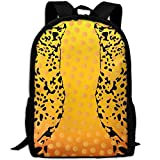 Mochila Escolar, Travel Hiking Waterproof Big Student College High School Shoulder Outdoor Canvas Cute Leopards, Shoulder Bag Backpacks For Men Women Adults