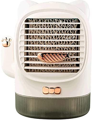 GONGFF Aire Acondicionado Personal, Lindo Ventilador portátil de Escritorio con Caja de Aroma silencioso, Ventilador, Mesa USB para el hogar, para Dormitorio