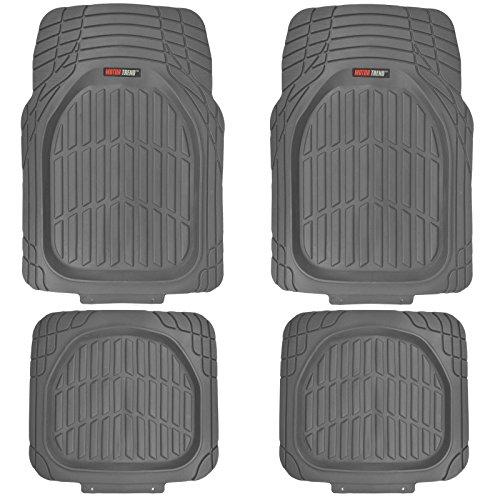 Motor Trend MT-921-GR FlexTough Tortoise - Heavy Duty Rubber Floor Mats for Car SUV Van & Truck -...