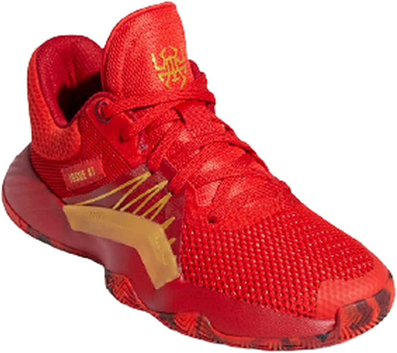 adidas Hombre D.O.N. Issue 1 J Zapatos de Baloncesto Rojo, 38 2/3