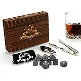 Whiskey Stones Gift Set - 9 Granite Chilling...