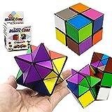 SHONCO Cubo Mágico 2 In 1,Cubo de Velocidad,Superficie Lisa Sólida y Duradera,Alivio de la Ansiedad del Estrés de La Persona Agitada de la Asamblea 3D para Niños y Adultos de Speed Cube