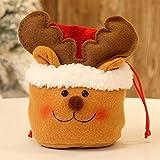 Ceally Sacs de Bonbons de noël, sachets à Bonbons Père Noël Bonhomme de Neige Elk Style Lovely Sac à friandises Enfant Amant fête de Mariage Vacances Nouvel an Vacances (B)