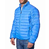 Alpine Swiss Niko Mens Down Alternative Jacket Puffer Coat Packable Warm Insulation & Lightweight BLU 2XL