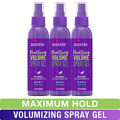 Aussie Spray Gel, with Bamboo & Kakadu Plum, Headstrong Volume, 5.7 fl oz, Triple Pack