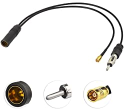 Superbat SMB to Din Male and Female Antenna Splitter Pigtail Cable RG174 Coaxial Cable for AM/FM DAB Pioneer Clarion Kenwood Truck Car Radio Stereo etc.