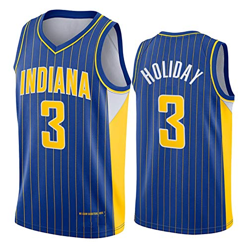 Justin Holiday - Camiseta de baloncesto para hombre, diseño de Indiana Pacers 3# 2021 New Swingman City Edition