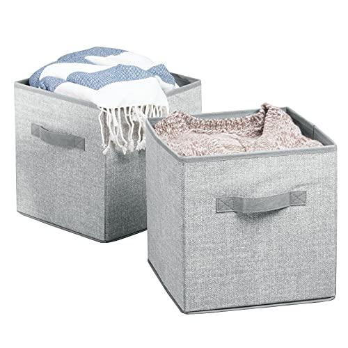 mDesign Organizador de juguetes set x2 - Cajas de almacenaje para el cuarto o el armario de los niños - Práctico guarda juguetes - Tamaño grande - cada caja mide 26,67 cm x 26,67 cm x 27,94 cm