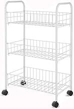 XINGDONG Półka Wózek Biały Wózek Domowy Wózek Kuchenny Przechowywanie Wielofunkcyjne Ruchome 3/4 Warstwy Trwałe (Rozmiar: ...