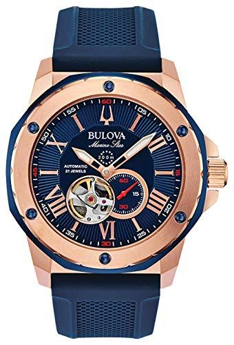 Relógio Masculino Bulova Marine Star Azul/Rosegold 98A227