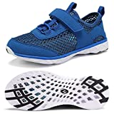 CIOR Boys & Girls Water Shoes Kids Swim Shoes Amphibious Aqua Shoes Sport Sneakers Light Weight Shoes Athletic Shoes for Swimming,Diving,WalkingU118SSXT002-Royal-33