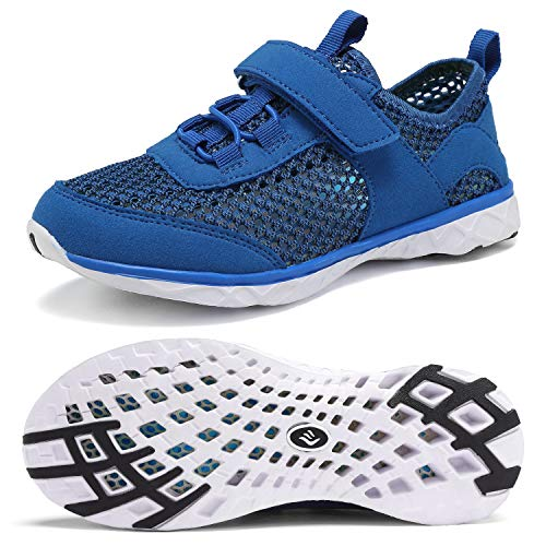 CIOR Boys & Girls Water Shoes Kids Swim Shoes Amphibious Aqua Shoes Sport Sneakers Light Weight Shoes Athletic Shoes for Swimming,Diving,WalkingU118SSXT002-Royal-30