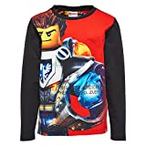 Legowear Boy's Lego Nexo Knight Tony 807-T-SHIRT L/S T-Shirt, Red, 4 Years