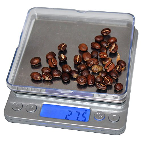 CoastLine Digital Pro Pocket Kitchen Scale Or Pocket Jewelry Scale with Back-Lit LCD Display | A Perfect Pour-Over Coffee Scale | Handy Food Scale Fulfills All Kitchen Scale Needs