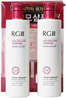 520ml x 2 PACK - Hair Regeneration Clinic Shampoo with Purified Red Ginseng Saponin & 6
