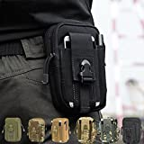 SANVA Leicht klein Tactical Hip Bag Hüfttasche Beintasche,Mode Multifunktional Handytasche für Camping Wandern Outdoor (schwarz)