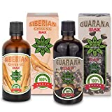 Cvetita Herbal, Ginseng Siberiano Panax + GUARANA, regain de energía, estimulante del sistema immunitaire, poderoso antioxidante, suplemento de quemador de grasa