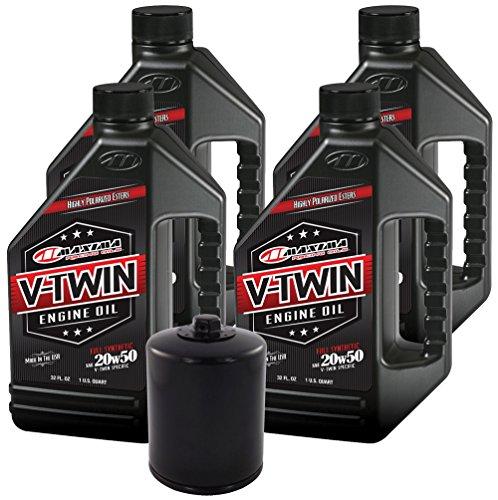 MaximaHiflofiltro VTEOCK14 Full Synthetic Engine Oil Change Kit for Harley Davidson Twin Cam V-Twin