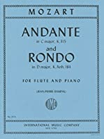 モーツァルト: アンダンテ ハ長調 KV 315、ロンド ニ長調 KV Anh.184/ランパル編/インターナショナル・ミュージック社/フルートとピアノ