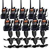 Retevis RT-5RV 2 Way Radios Long Range, 128CH Dual Band Two Way Radio Rechargeable with Earpiece and Mic, Handheld...
