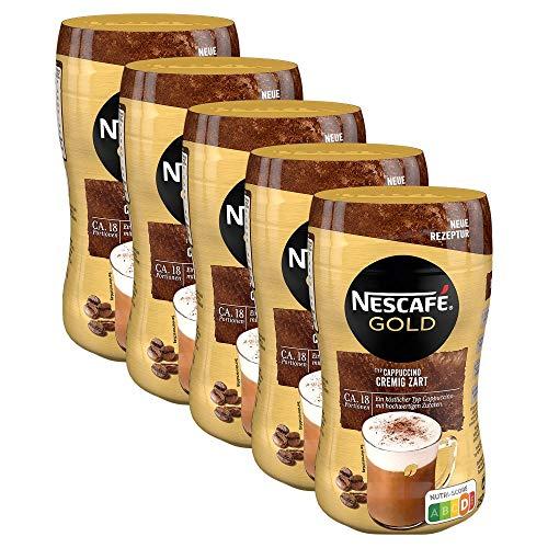 NESCAFÉ Gold Typ Cappuccino Cremig Zart, Getränkepulver aus löslichem Bohnenkaffee, koffeinhaltig, 5er Pack (5 x 250g)