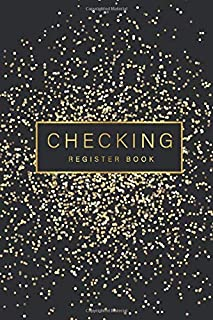 Checking Register Book: Black Gold Dot Cover, 6 Column Payment Record and Tracker Check Log Book, Personal Checking Account Balance Transaction ... Checkbook Payment (Debit) Deposit (Credit))