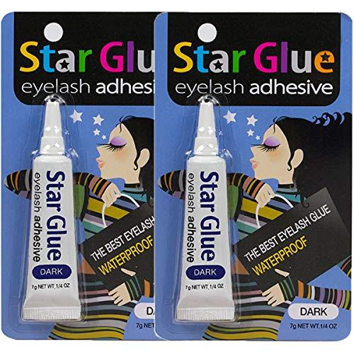 2packs of Star Eyelash Glue for Strip Lashes (Dark) 7g (1/4oz)