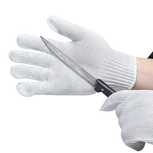 TYRBAGS Snijbestendige Handschoenen, Veiligheid Keuken Snijdt Handschoenen Voedsel Grade Niveau 5 Bescherming voor Oester Shucking Fish Fillet Processing Mandolin Snijden 2 Paar
