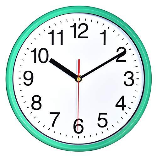 """Plumeet 10"""". Reloj de Cuarzo de Pared silencioso, Decorativo para el hogar/la Cocina/la..."""