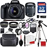 Canon EOS 4000D / Rebel T100 DSLR Camera with 18-55mm f/3.5-5.6 III + Professional...