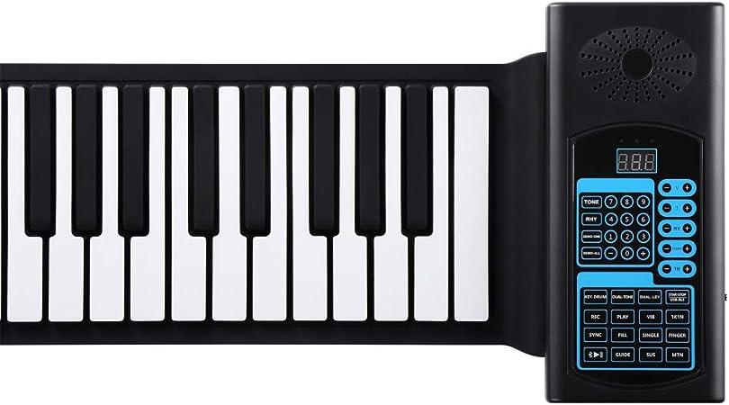 Vogvigo Piano digital enrollable de 88 teclas, teclado portátil con 80 modelos de música 140 tonos 128 ritmo, el mejor regalo para niños, ...
