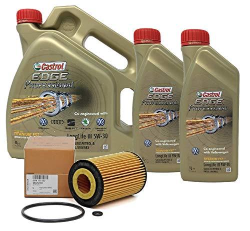 Castrol Aceite para Motor Edge Professional LongLife III 5W-30, 6 litros + Filtro de Aceite Original 03N115562