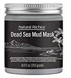 Dead Sea Mud Mask for Face and Skin Care, Best Facial Cleansing Clay for Oily Skin Blackhead, Whitehead, Acne and Pores for men & women - 8.8 fl. Oz Natural Riches