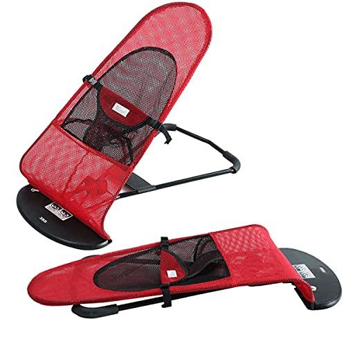 XXzhang Cama elevada portátil para perro con tres modos de altura, silla mecedora plegable para mascotas al aire libre con centro de malla transpirable, carga máxima de 25 libras, rojo
