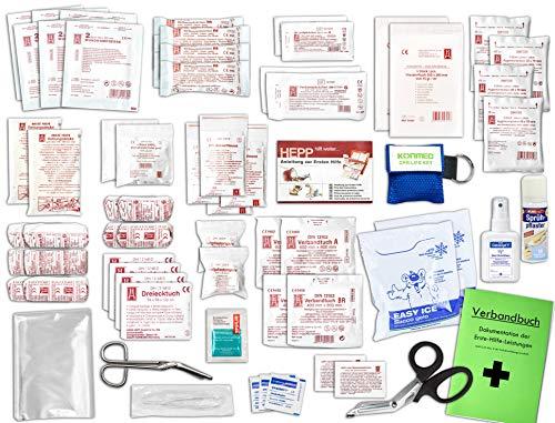 Komplett-Set Erste-Hilfe DIN 13169 EN 13 169 PLUS 4 für Betriebe inkl. Sprühpflaster, Hygiene-Ausstattung & Notfallbeatmungshilfe