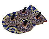 DharmaObjects Belly Dancing OM Namah Pro Finger Zills or Cymbals (Blue)...