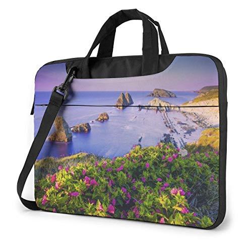 15.6″Lightweight Laptop Notebook Shoulder Backpack Bag Coast Waterproof PC Briefcase Messenger with Strap