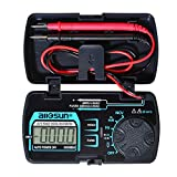 allsun 3 3/4 Digits Autoranging Pocket Digital Multimeter Mini Multi Tester AC/DC Ohm Volt Amp Capacitance Frequency Diode Continuity LCD Display Home Measuring Tools EM3085A