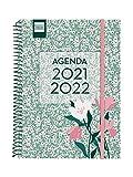 Finocam Agenda 2021 2022 Semana vista apaisada Septiembre 2021, Junio 2022 10 meses y Julio/Agosto resumidos 4º, 155x212 Secundaria Floral Catalán