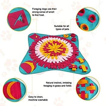 FENRIR Tapis interactif d'entraînement Puzzle Jouets pour Foraging Relaxation, Odeur Amusante Couverture Pliable pour Chiot