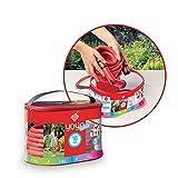 FITT YOYO Bag Flexibler Gartenschlauch für professionelle Bewässerung mit praktischer Box, ausgestattet mit Griff und Band für den Transport nach Gebrauch, Multifuntions-Pistole, Rot, 10 m