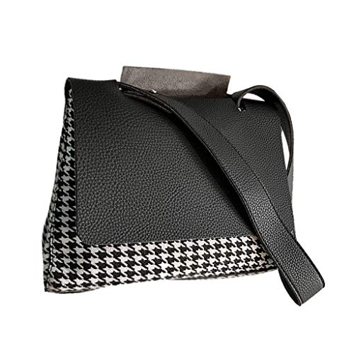 Top Design Fashion Woman Sac À Main Souple Sacs À Bandoulière Crossbody Bag Wallet (Couleur : Noir)