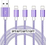 iPhone Charger [Apple MFi Certified] 4pack...